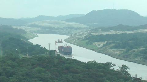 PANAMA CITY,SEPT 25: Corte Culebra, shortest part Stock Video Footage