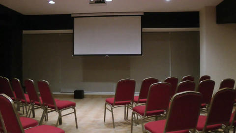 empty conference hall Stock Video Footage