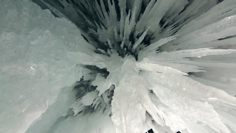 Cave Icicles Stock Video Footage