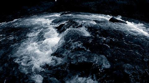 Dark Mountain River slow mo Stock Video Footage