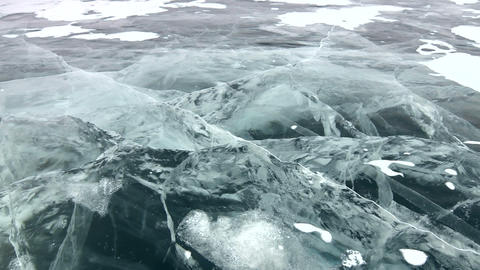 Deep Ice breaks Stock Video Footage