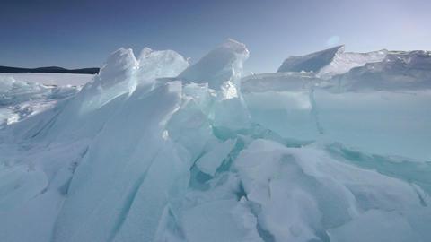 Giant ice blocks Footage