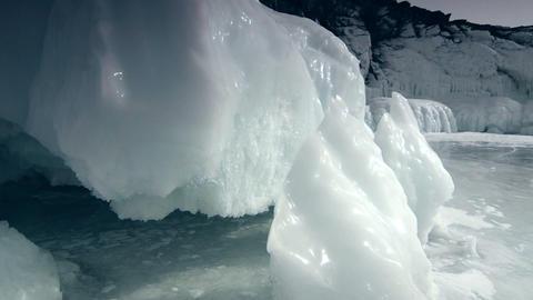 Iced Island Stock Video Footage