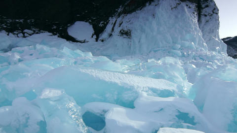 Icefield Stock Video Footage