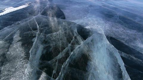Icefield drifting snow Footage