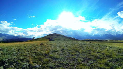 Time Lapse Panorama of Mountain Valley Stock Video Footage