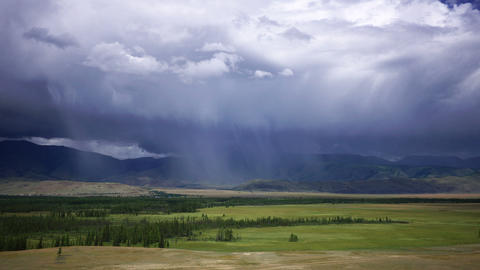 Time Lapse Rain Storm Over the Mountains Stock Video Footage
