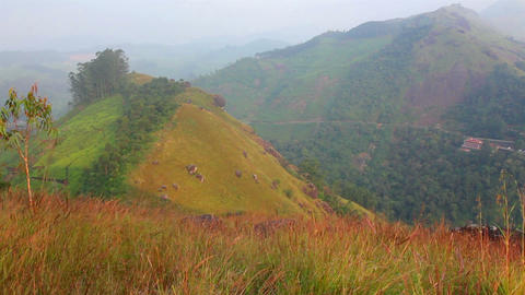 mountain landscape with road in Munnar Kerala Indi Footage