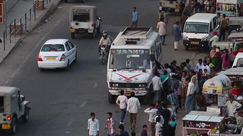traffic on indian street Footage
