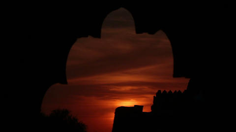 sunset in rajasthan - timelapse Stock Video Footage