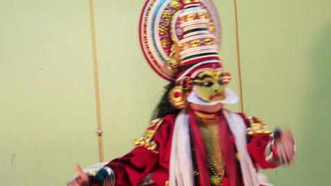 Kathakali - national theatrical performance in Ker Footage