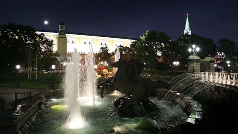 Sculptural group Four Seasons fountain Geyser - Ma Footage
