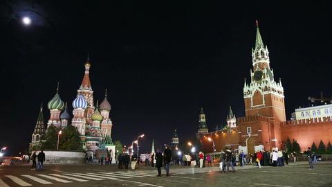Kremlin and St. Basil Church (Vasiliy Blazhenniy)  Footage