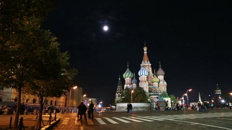 panorama of Red square in Moscow Russia Stock Video Footage