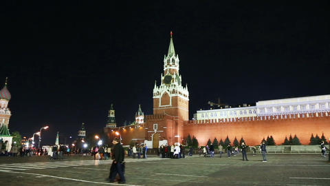 panorama of Red square in Moscow Russia Footage