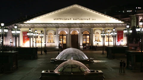 Central Exhibition Hall on Manezh Square - Moscow Stock Video Footage