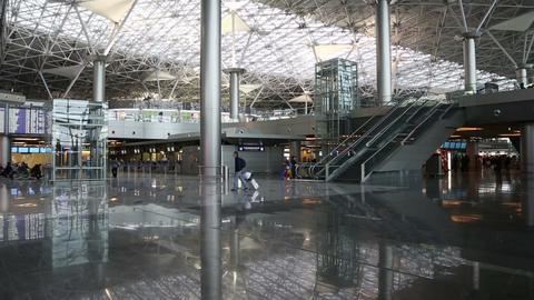 airport terminal modern interior Footage