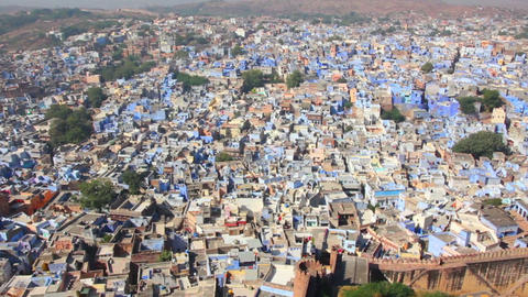 Jodhpur Blue City - Rajasthan India stock footage