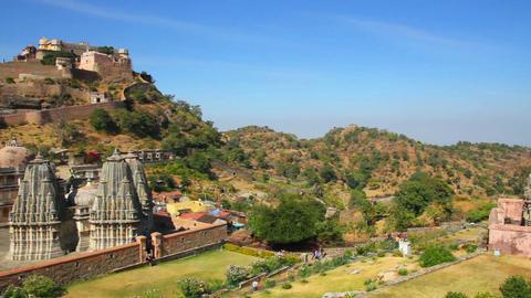 kumbhalgarh fort in rajasthan India Stock Video Footage