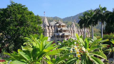 hindu temple ranakpur in rajasthan india Footage