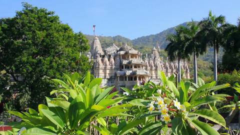 hindu temple ranakpur in rajasthan india Stock Video Footage