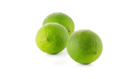 Fresh green limes Footage