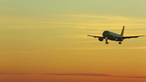 Landing At The Dawn stock footage