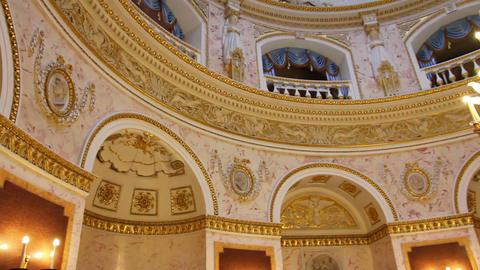 palace interior in Pavlovsk St. Petersburg Russia Stock Video Footage