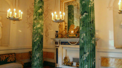 palace interior in Pavlovsk St. Petersburg Russia Stock Video Footage