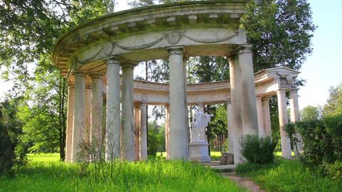 apollo colonnade in Pavlovsk park St. Petersburg R Footage