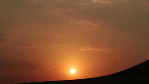 Sunrise In Desert - Timelapse stock footage