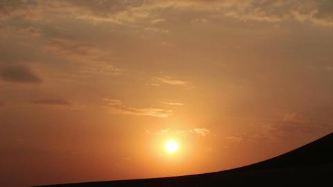 sunrise in desert - timelapse Stock Video Footage
