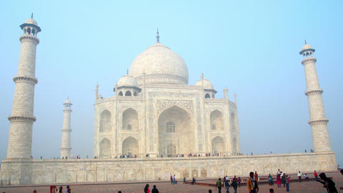 Taj Mahal in Agra India - timelapse in motion Stock Video Footage