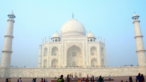 Taj Mahal in Agra India - timelapse in motion Footage