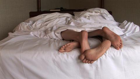 Snuggle Feet Stock Video Footage