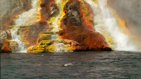 Overflow from Excelsior Geyser runs into the Yello Footage