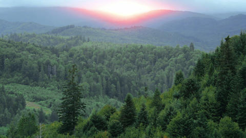 sunrise in the mountains Stock Video Footage