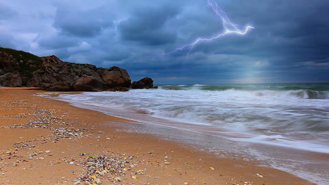 storm and the sea Footage