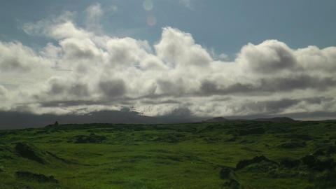 Moving clouds timelapse thingvellir (Þingvellir) Stock Video Footage