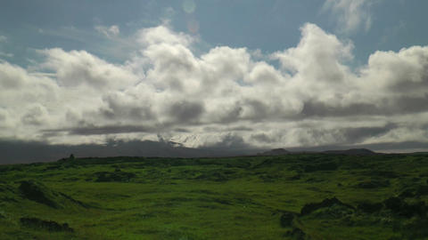Moving Clouds Timelapse Thingvellir (Þingvellir) stock footage