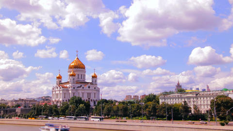 Cathedral of Christ the Saviour. Russia,Moscow tim Footage