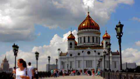 Cathedral of Christ the Saviour. Russia,Moscow tim Stock Video Footage