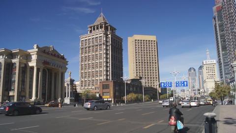 Harbin 03 Beijing Opera Theatre pan Footage