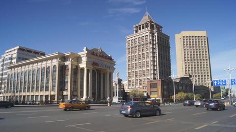 Harbin 03 Beijing Opera Theatre pan Stock Video Footage