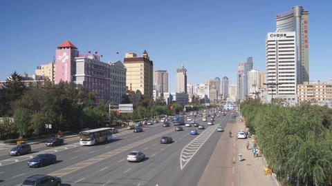 Harbin 08 Hong Jun Jie Street Traffic Footage