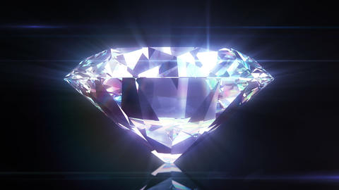 Beautiful Diamond Close-Up with Matte in Looped an Animation