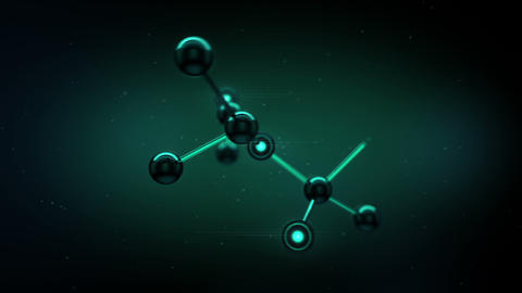 Beautiful Molecule Structure in microscope. HD 108 Animation