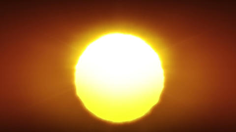 Clean Sunrise In Looped Animation. HD 1080 stock footage