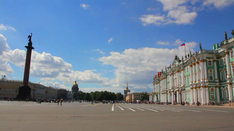 Hermitage and Palace Square in St. Petersburg Footage