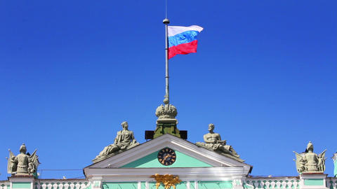 Hermitage (Winter palace) in St. Petersburg - frag Stock Video Footage